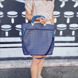 Boutique-Pink Haley Fashion Tote bag in blue